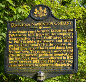 Conestoga Navigation Company Historic Marker