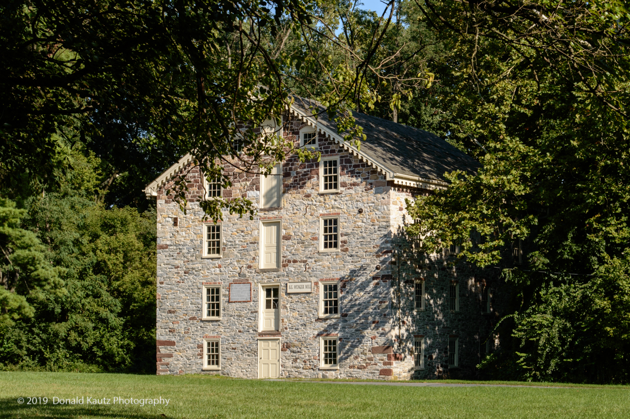 The mill was built in 1785 after a 1748 mill burned. Ephrata Cloisters owned the mill in 1757, George Zimm the miller. The Cloister Group continued to own and operate the mill through the 1850's.