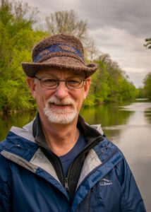 A portrait of me along the Conestoga River